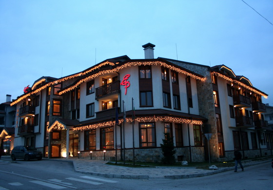 Гостиничный комплекс евелина палас банско, отель  евелина палас  болгарских банско  летний сад